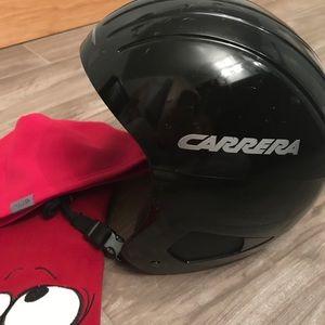 Carrera adult black ski helmet bundle